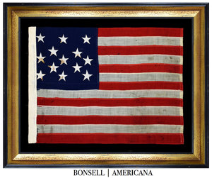 Antique Flag with a 3-2-3-2-3 Star Pattern