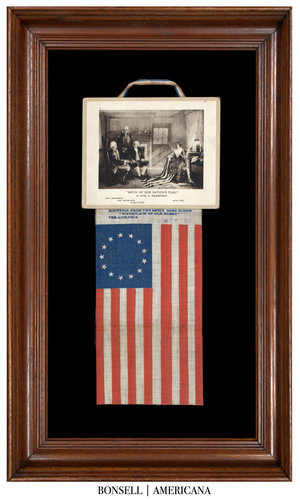 Antique Flag with Betsy Ross Star Pattern