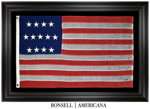 Antique Flag with 4-5-4 Star Pattern