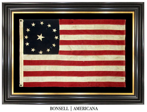 Antique Flag with Cowpens Star Pattern