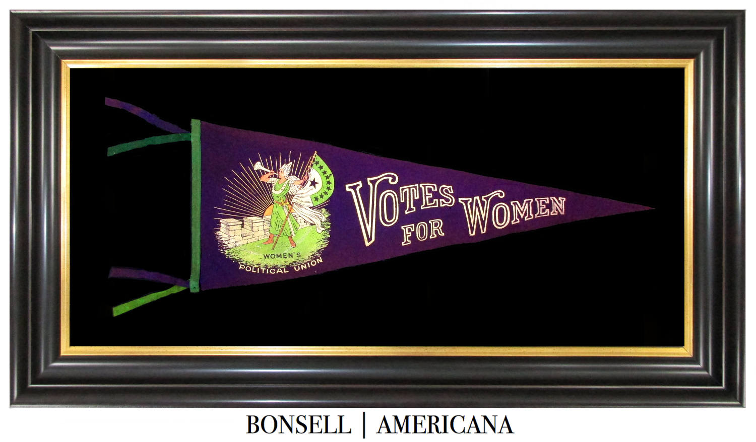 Antique Votes for Women Pennant | Women's Political Union