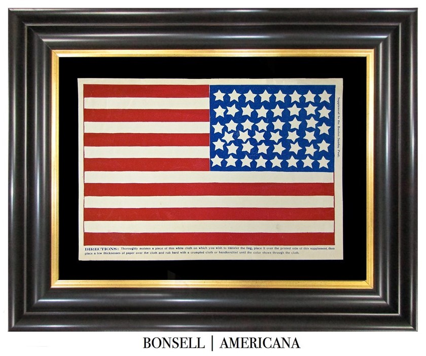 46 Star Antique Flag | Supplement to the Boston Sunday Post