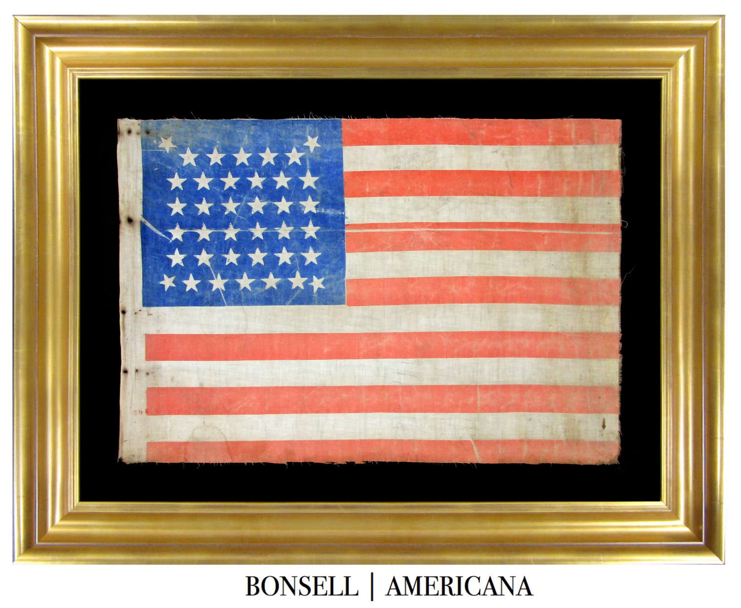 Antique Flag with Beehive Pattern