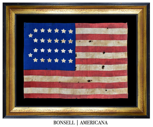 26 Star Antique Flag with Blood Stripe