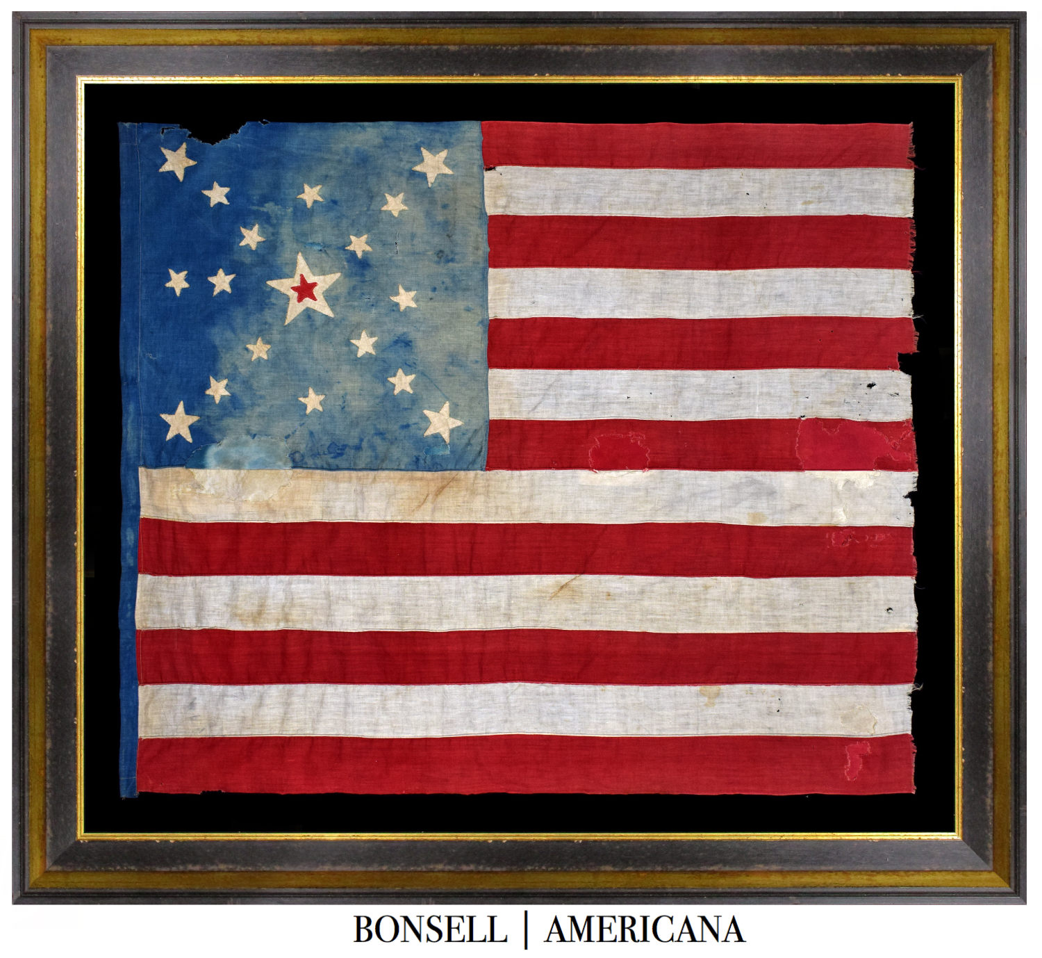 18 Star Antique Flag with Center Star