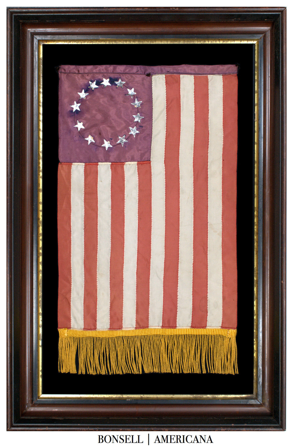 Antique Flag with Fringe