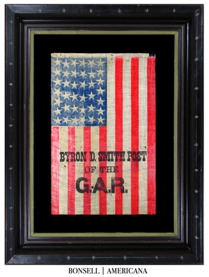 Antique Flag with Grand Army of Republic Overprint