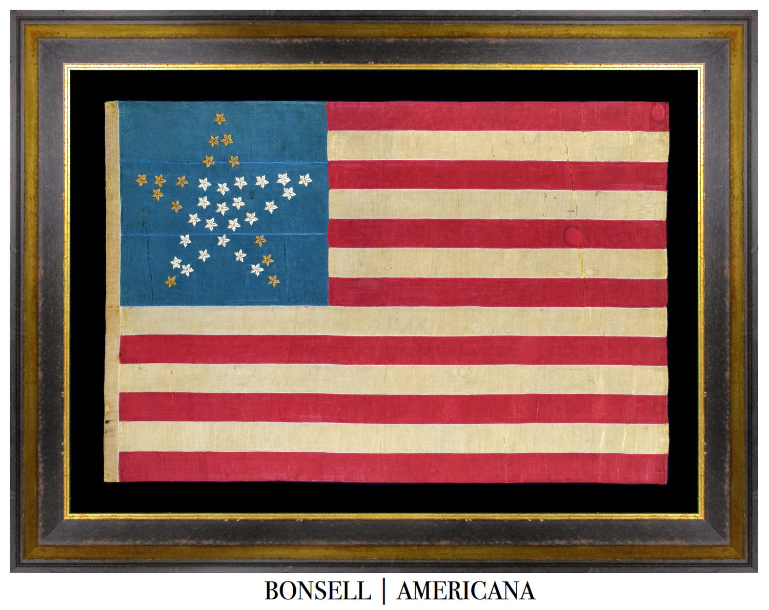 Antique Flag with Great Star Pattern