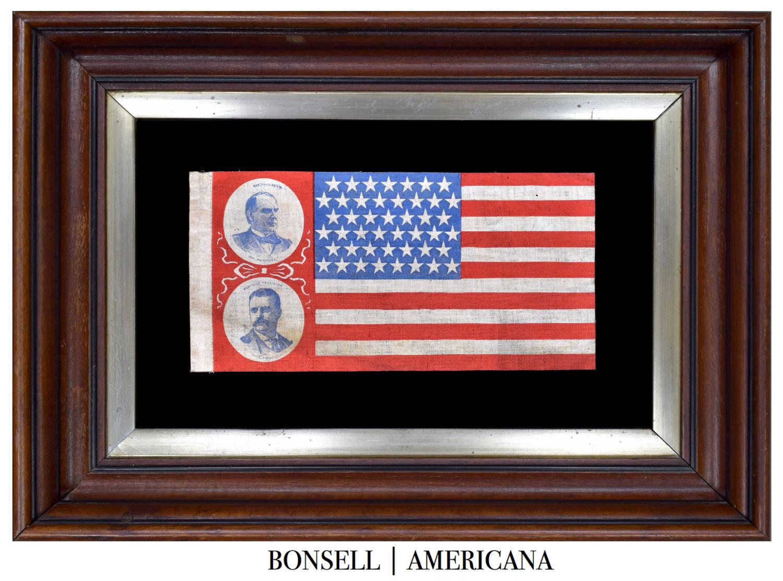 Antique Teddy Roosevelt Jugate Flag