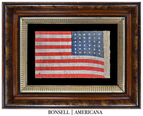 36 Star Antique Flag Shown in a Reverse Mount