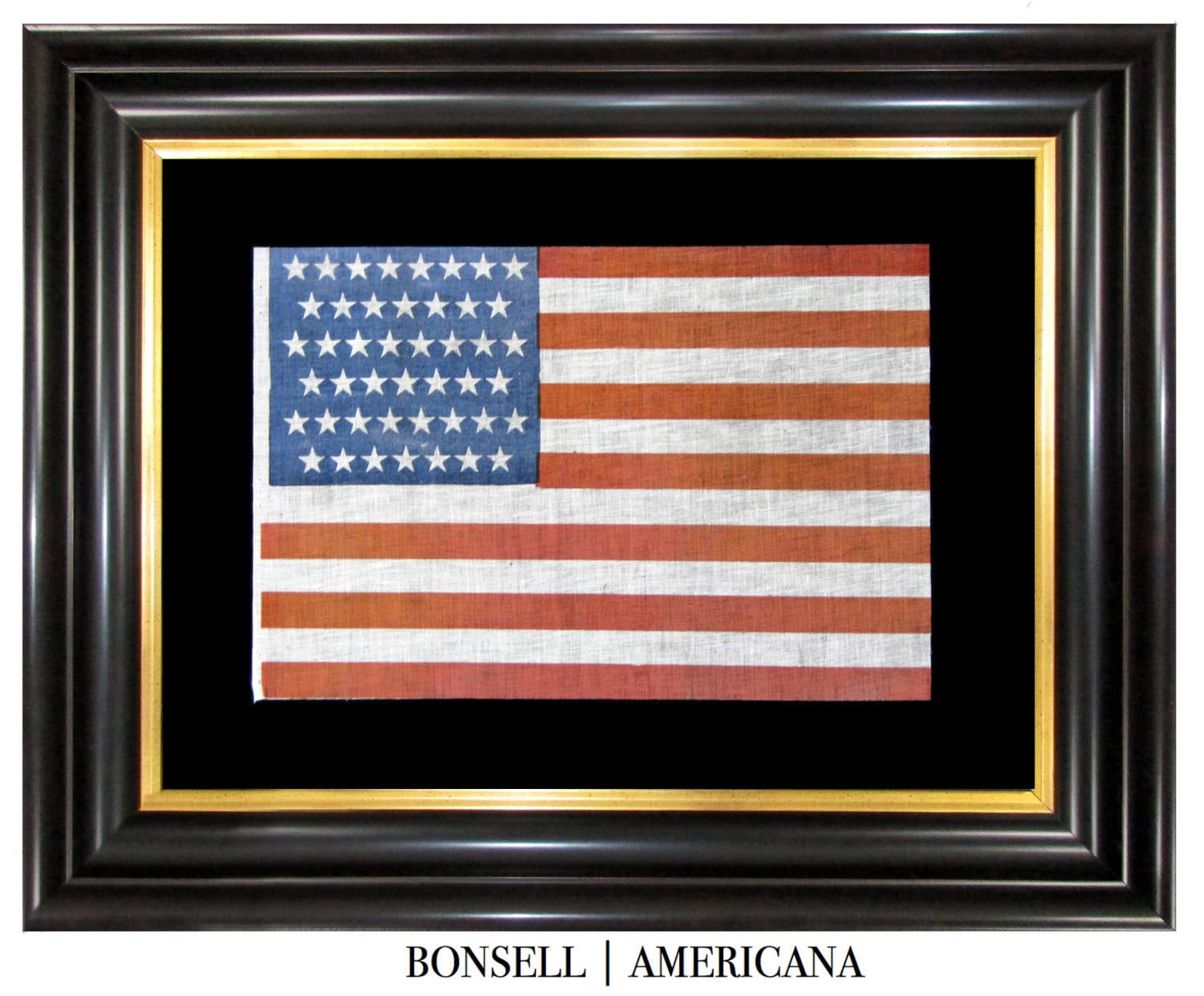 Antique Flag with Lineal Star Pattern