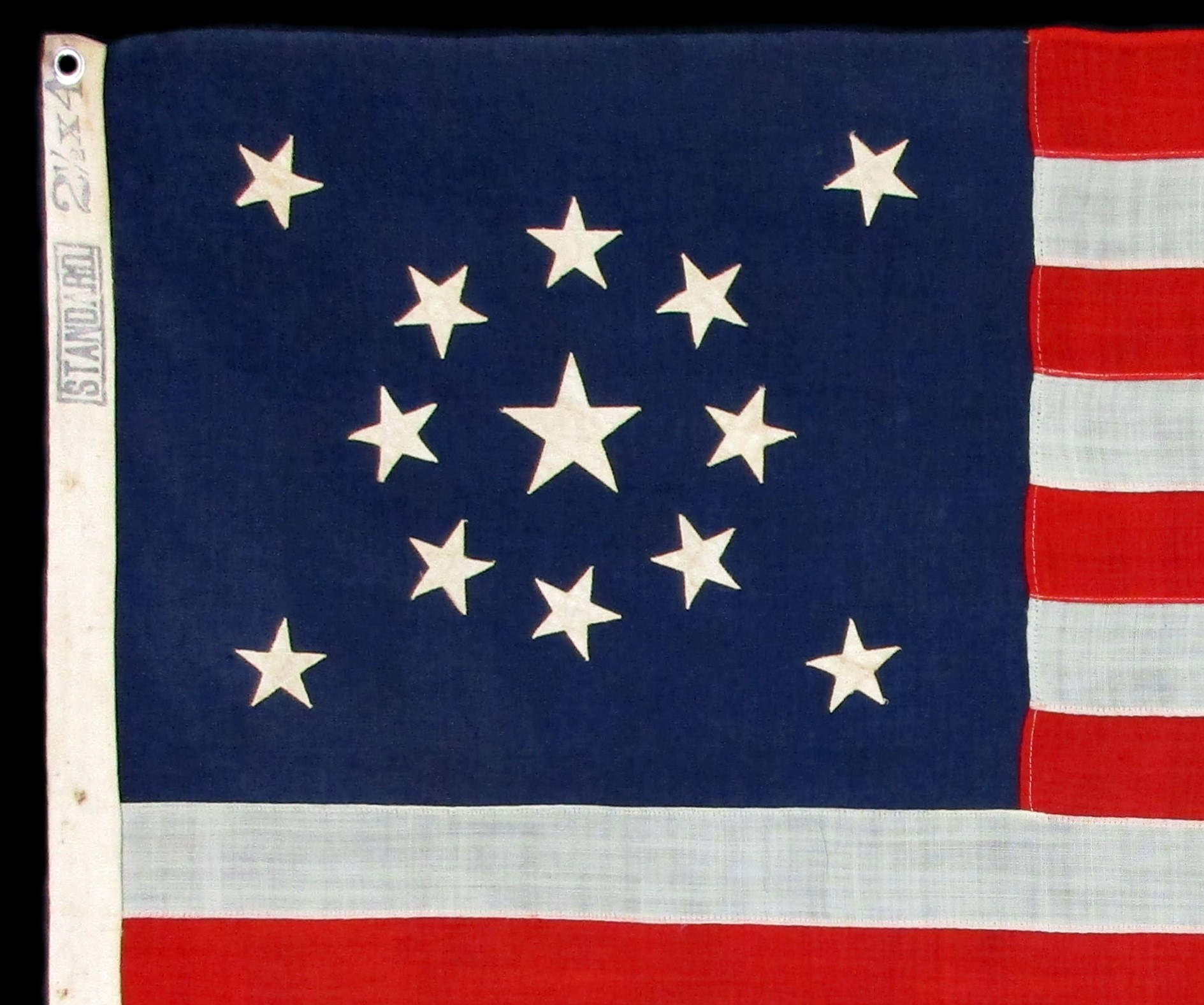 Antique Flag with Standard Marking