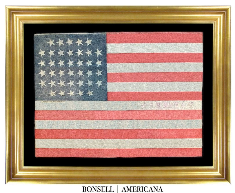 Antique Flag with a Notched Star Pattern
