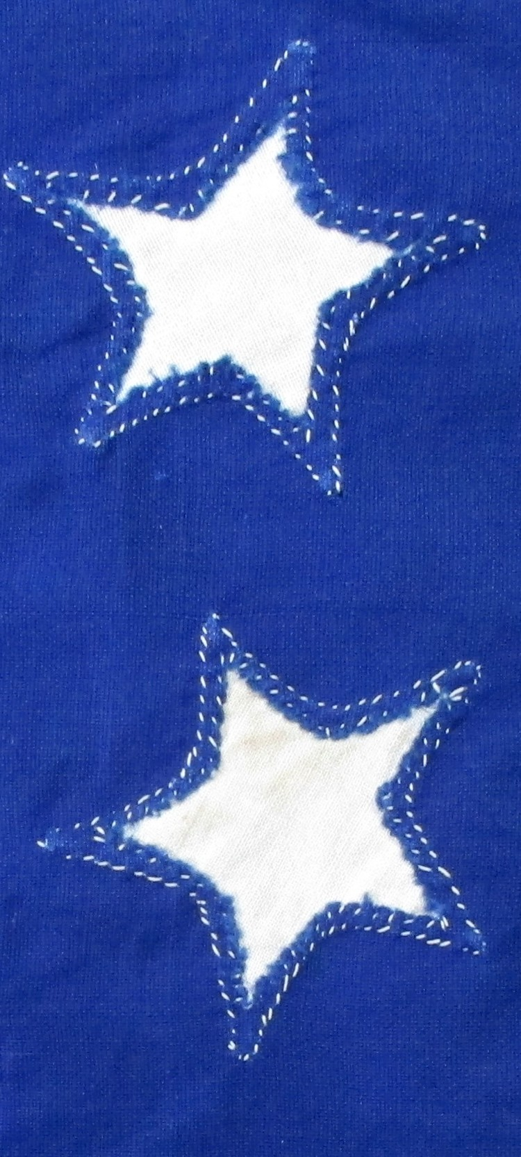 Antique Flag with Single-Appliqued Stars