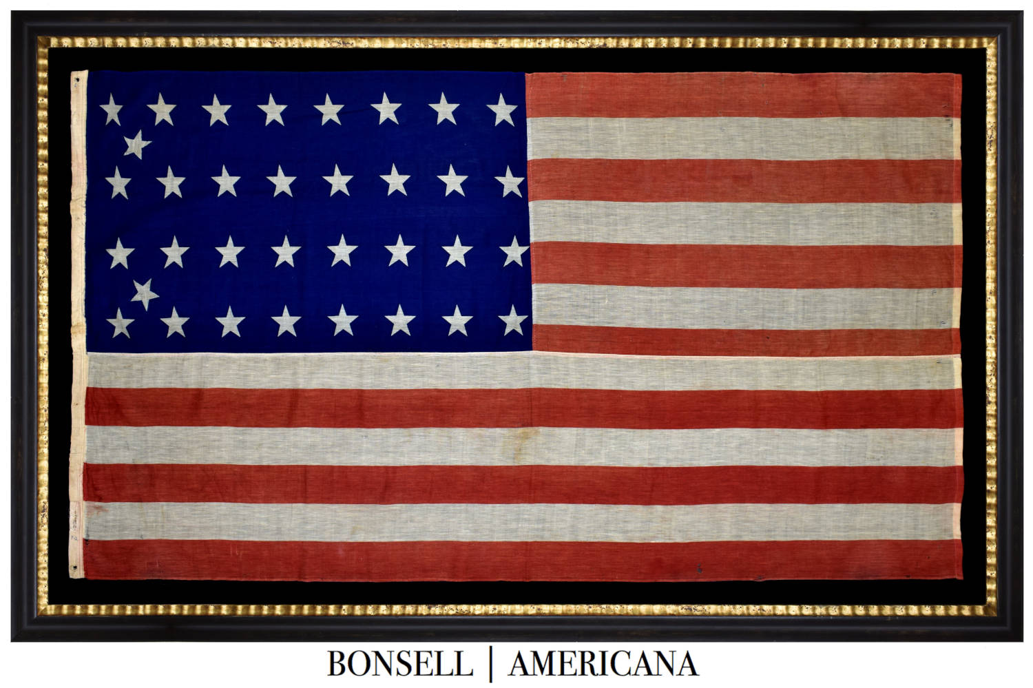 34 Star Antique Flag | Civil War Era