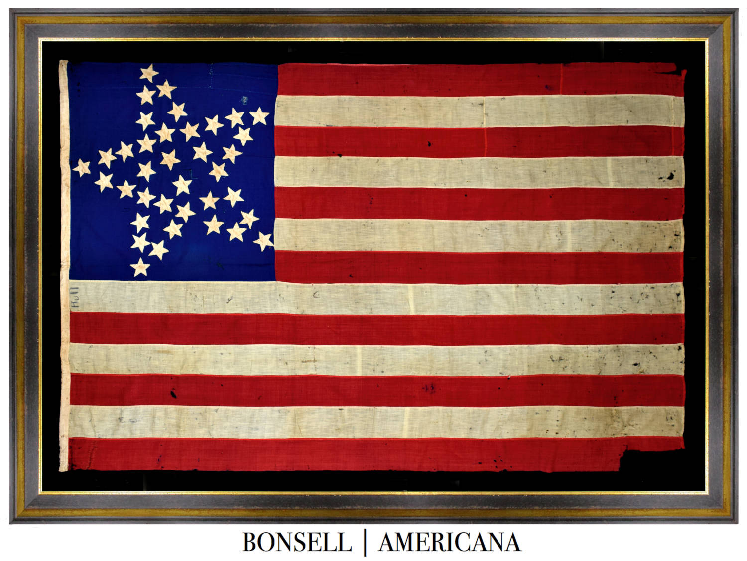 37 Star Antique Flag with Grand Luminary Pattern