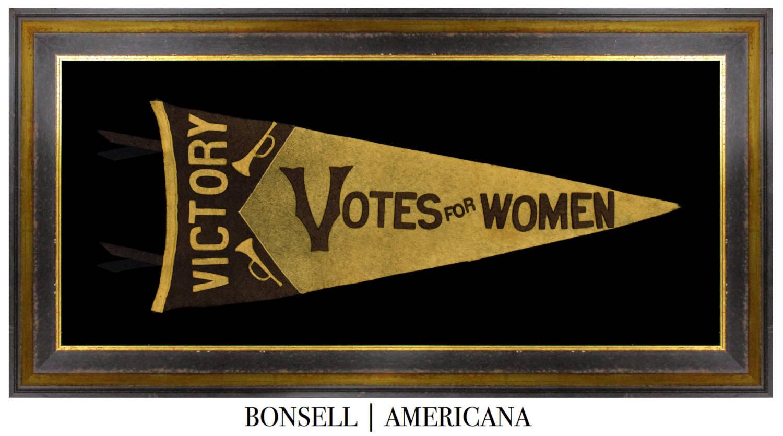 Antique Votes for Women Suffragette Pennant