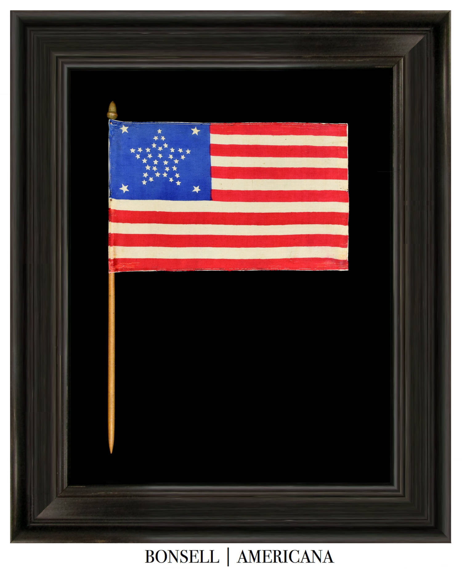 37 Star Antique Flag with a Grand Luminary Configuration