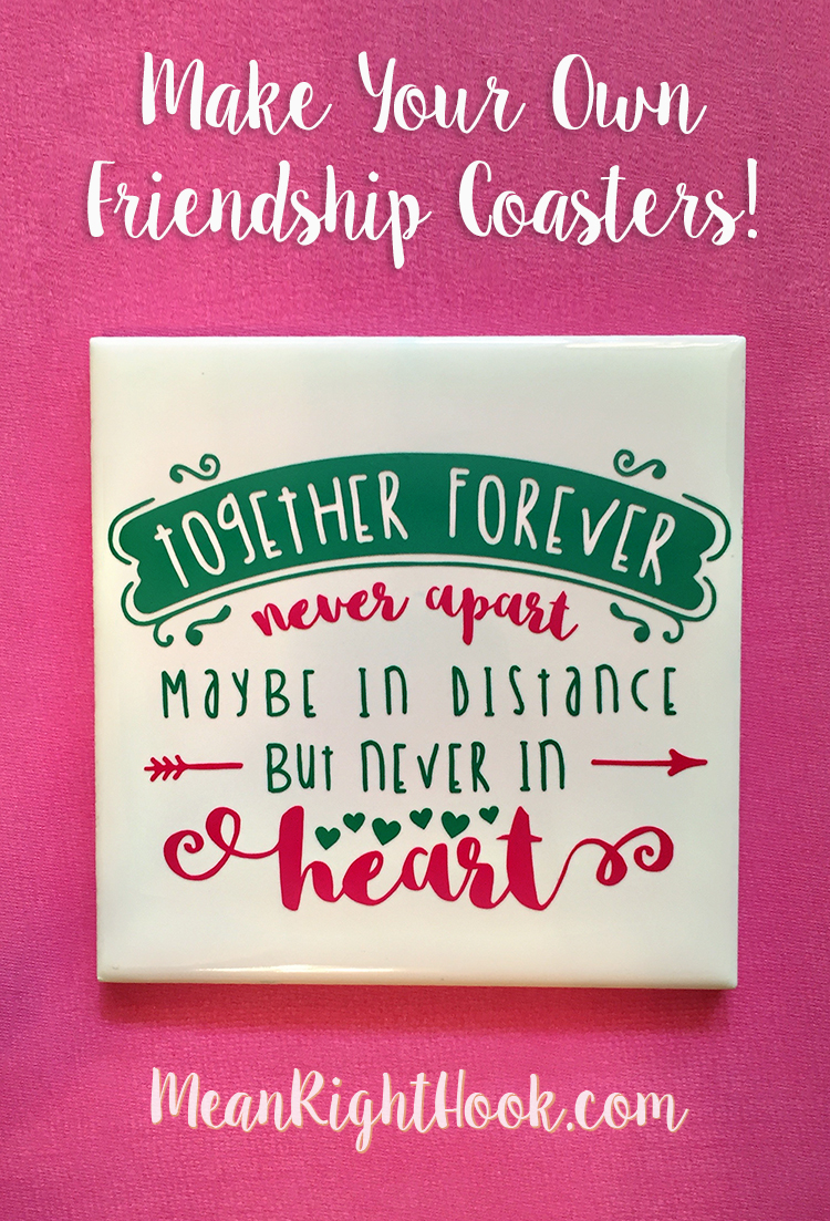 DIY Friendship Coaster from MeanRightHook.com