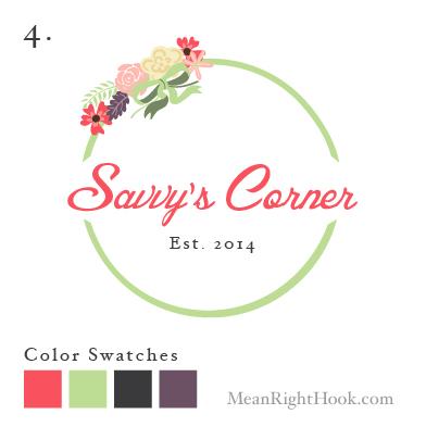 Savvy's Corner Logo Design from MeanRightHook.com