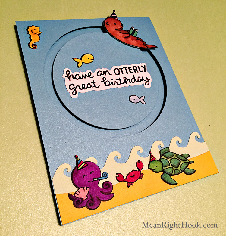 Otterly Great Lawn Fawn Birthday Card | MeanRightHook.com