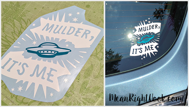 X-Files Decal | MeanRightHook.com
