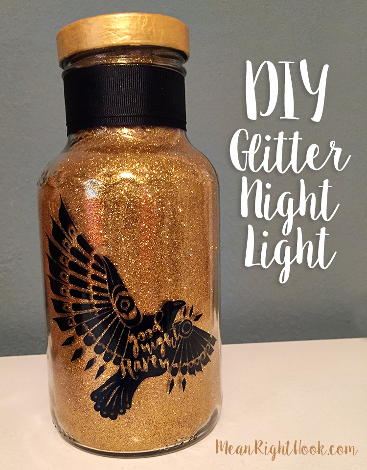 DIY Glitter Night Light | MeanRightHook.com