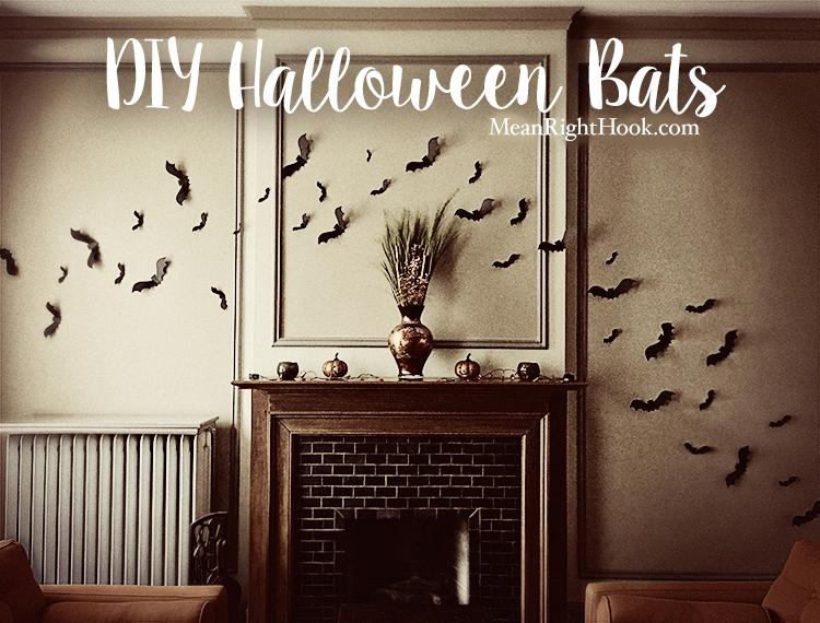 DIY Halloween Bats | MeanRightHook.com #Cricut