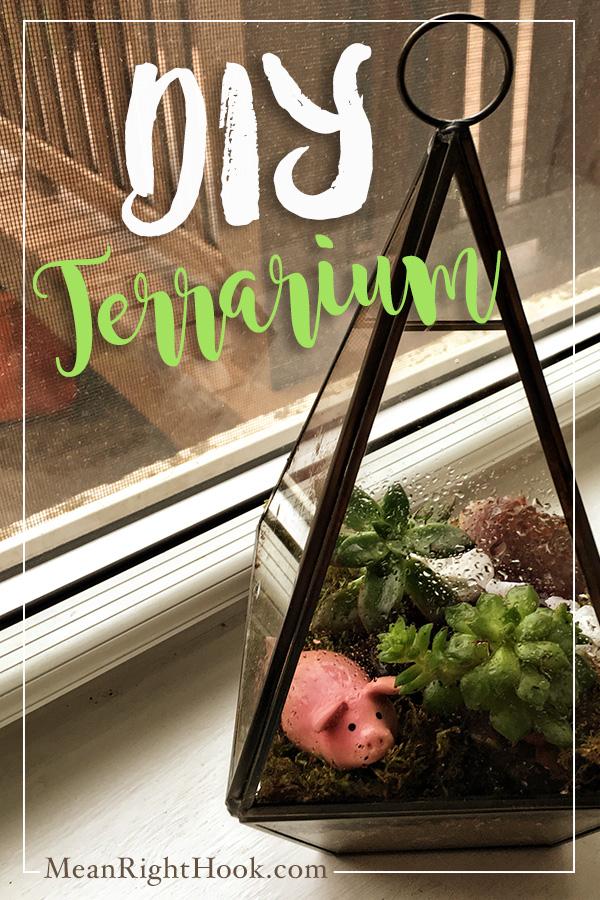 DIY Terrarium | MeanRightHook.com