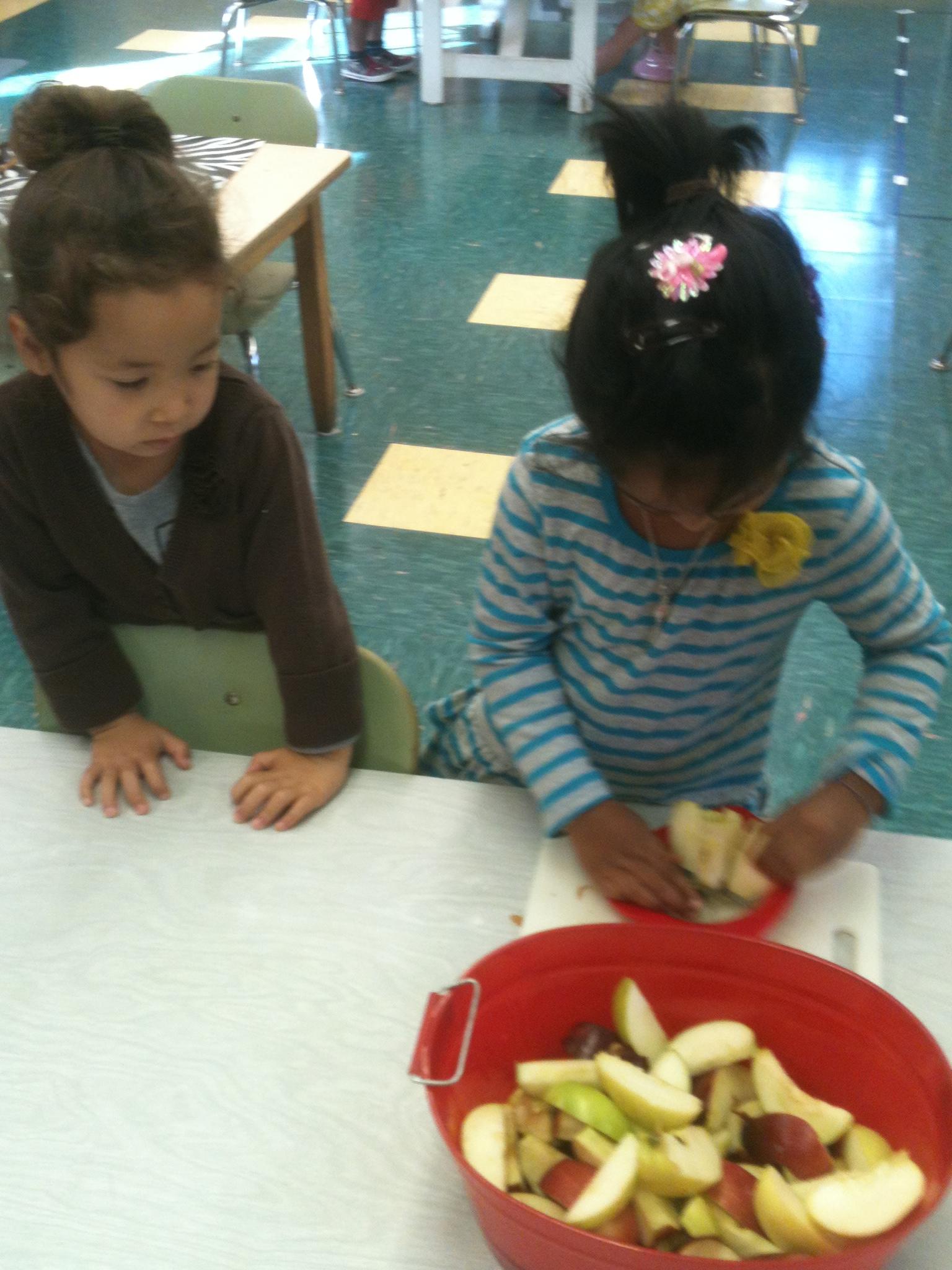 Cutting Apples