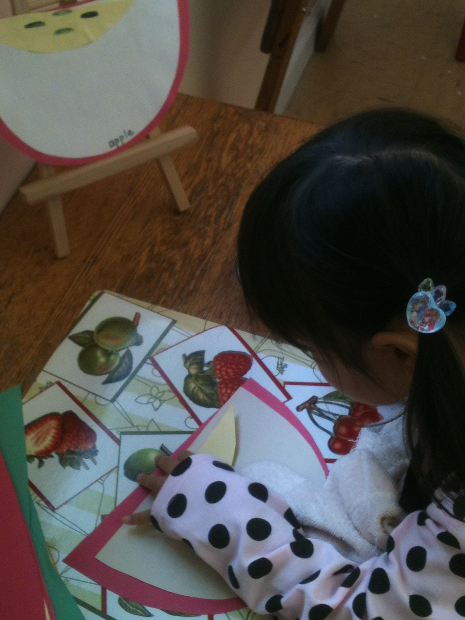 Making a Paper Apple to Take Home
