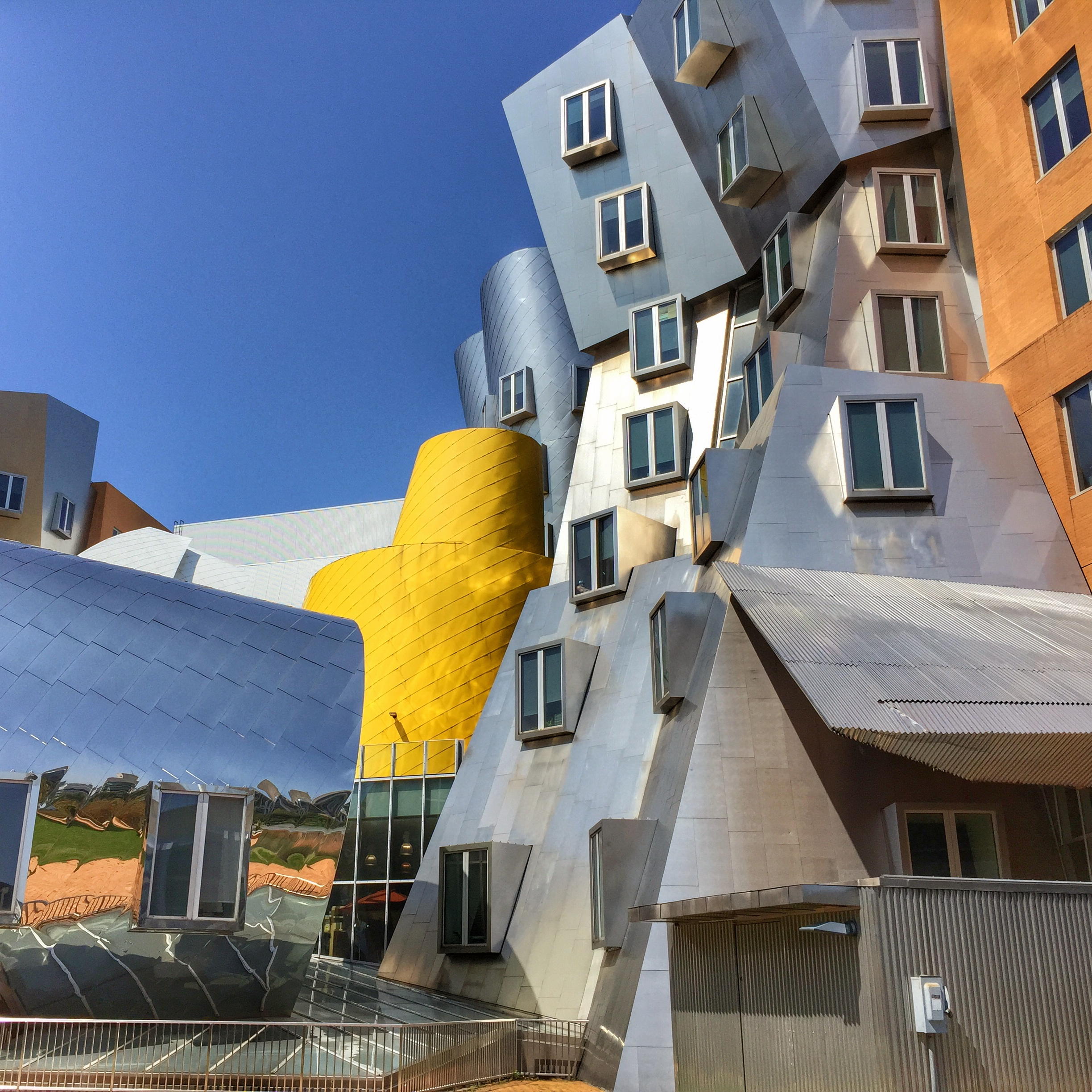Frank Gehry's whimsical stata center at MIT.