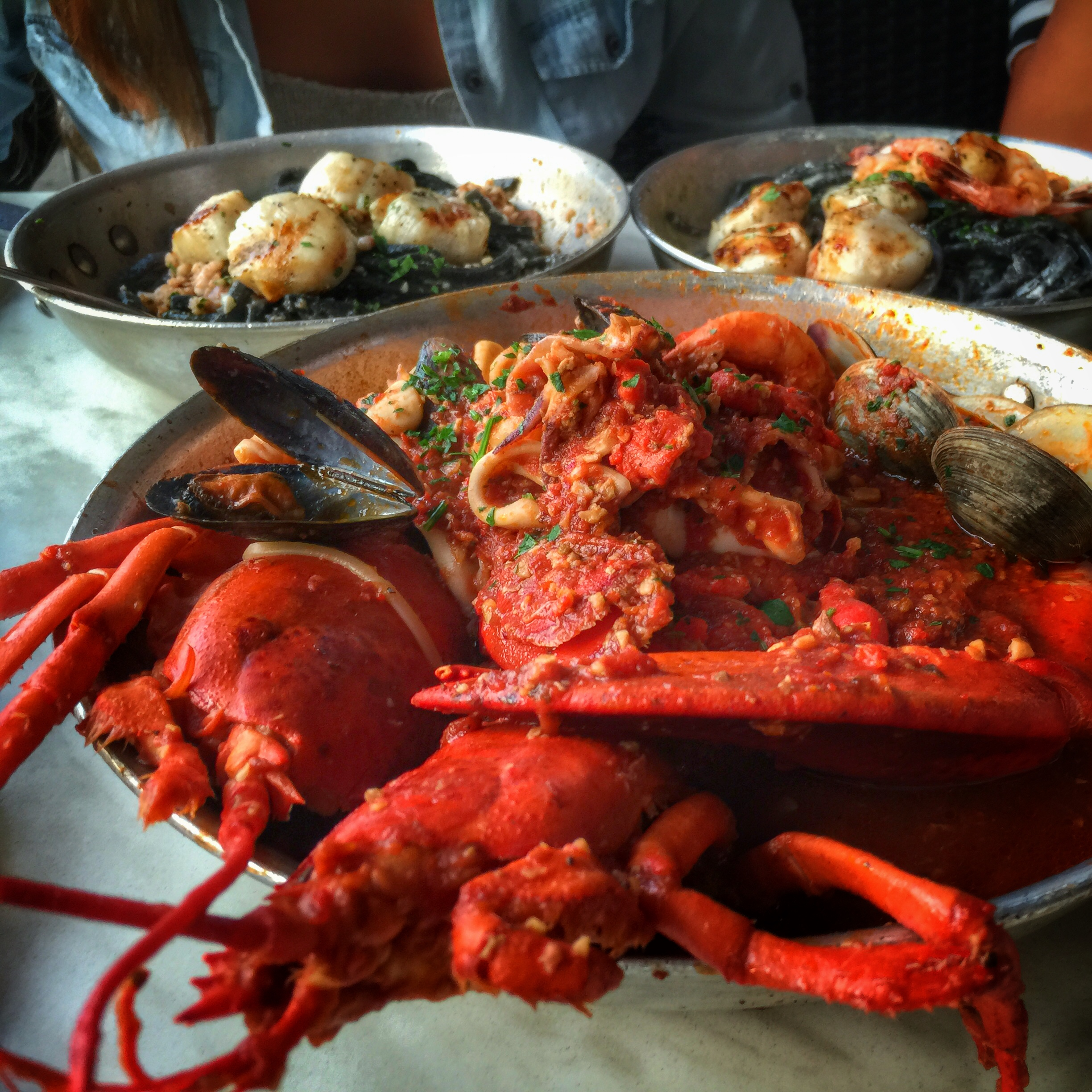lobster fra diavolo from the daily catch is quite divine.
