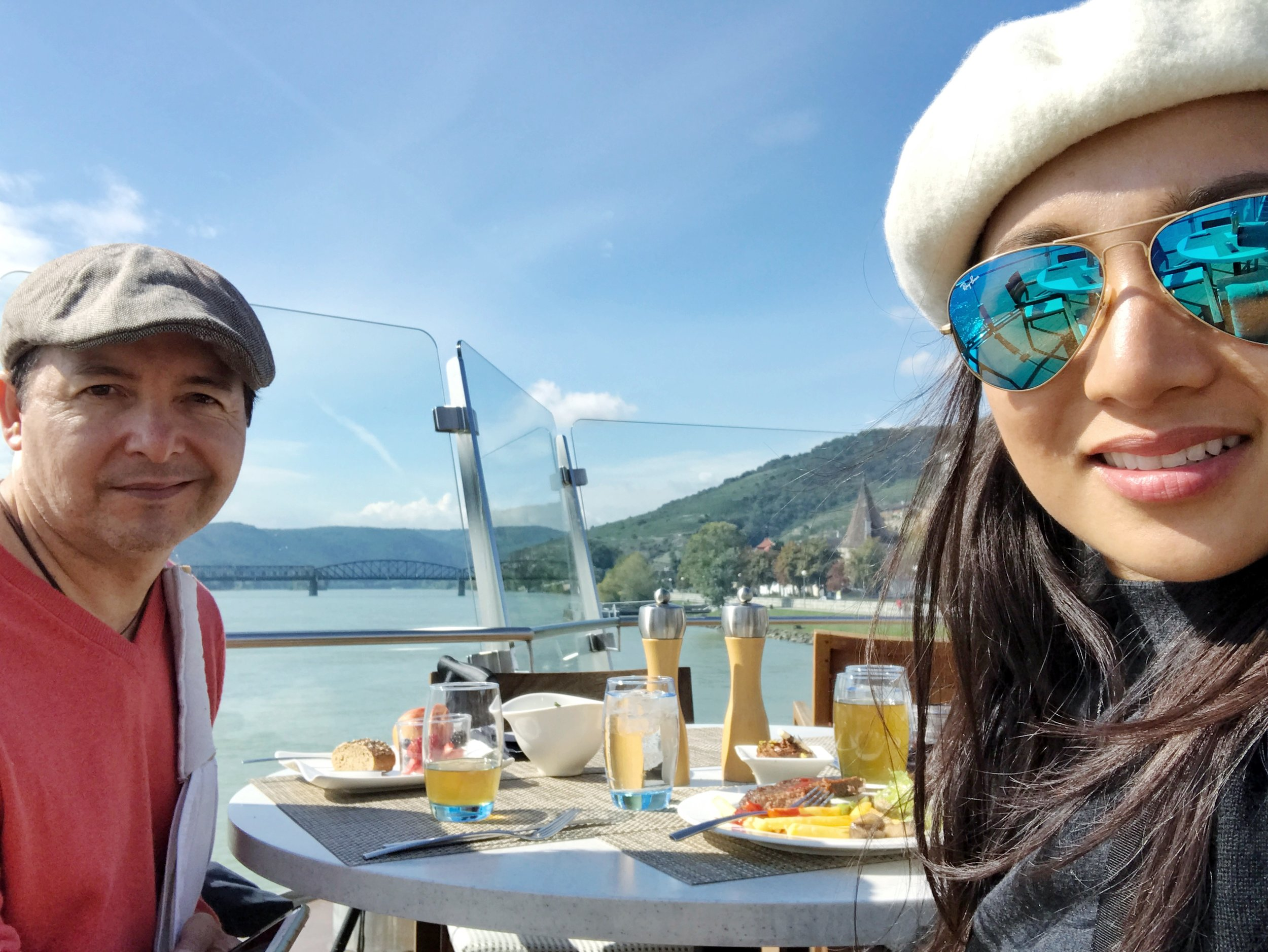Since we missed the scenic Danube Bend from the terrace, we were not going to miss the scenic Wachau Valley.