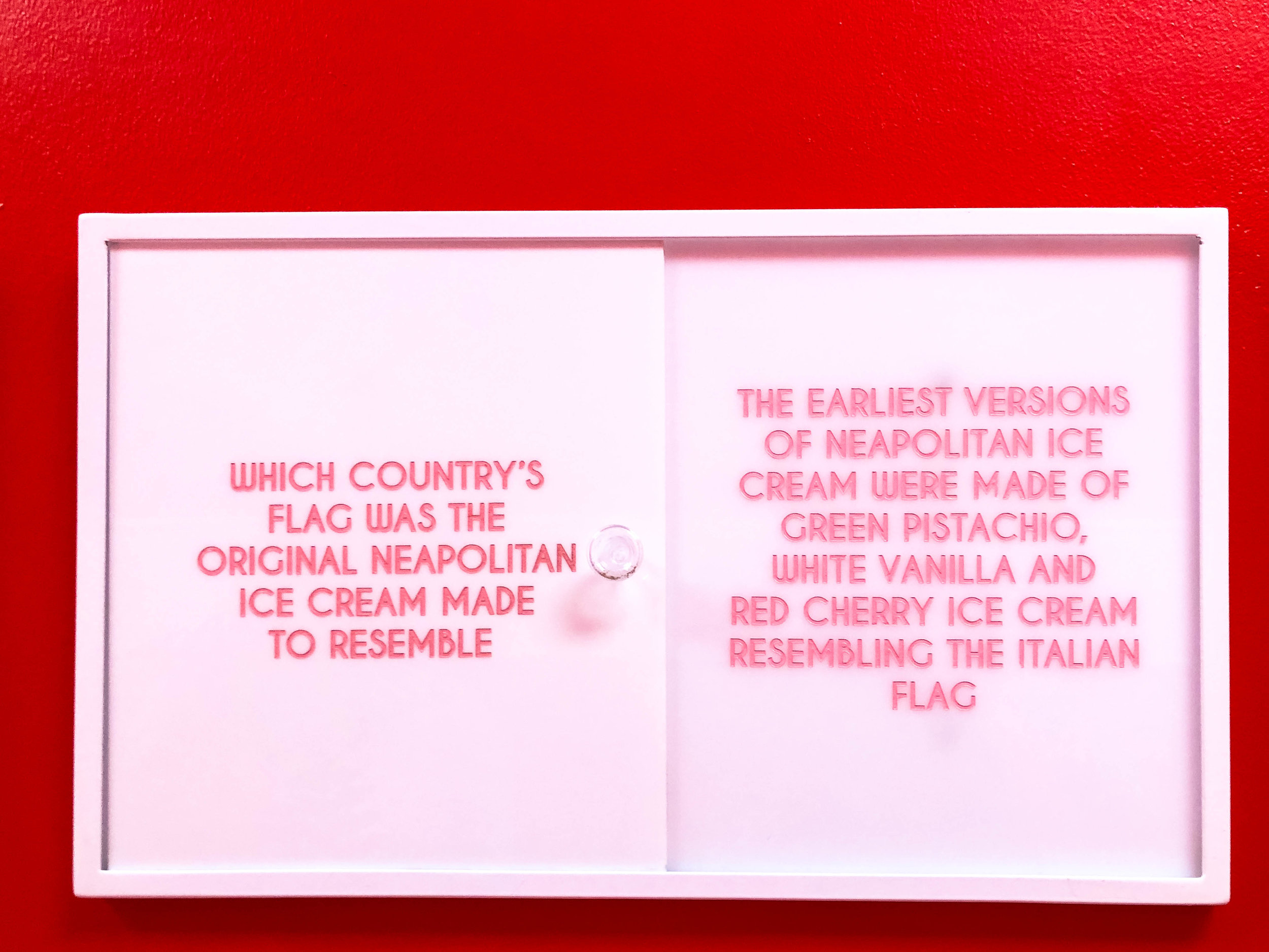 Museum of Ice Cream Trivia