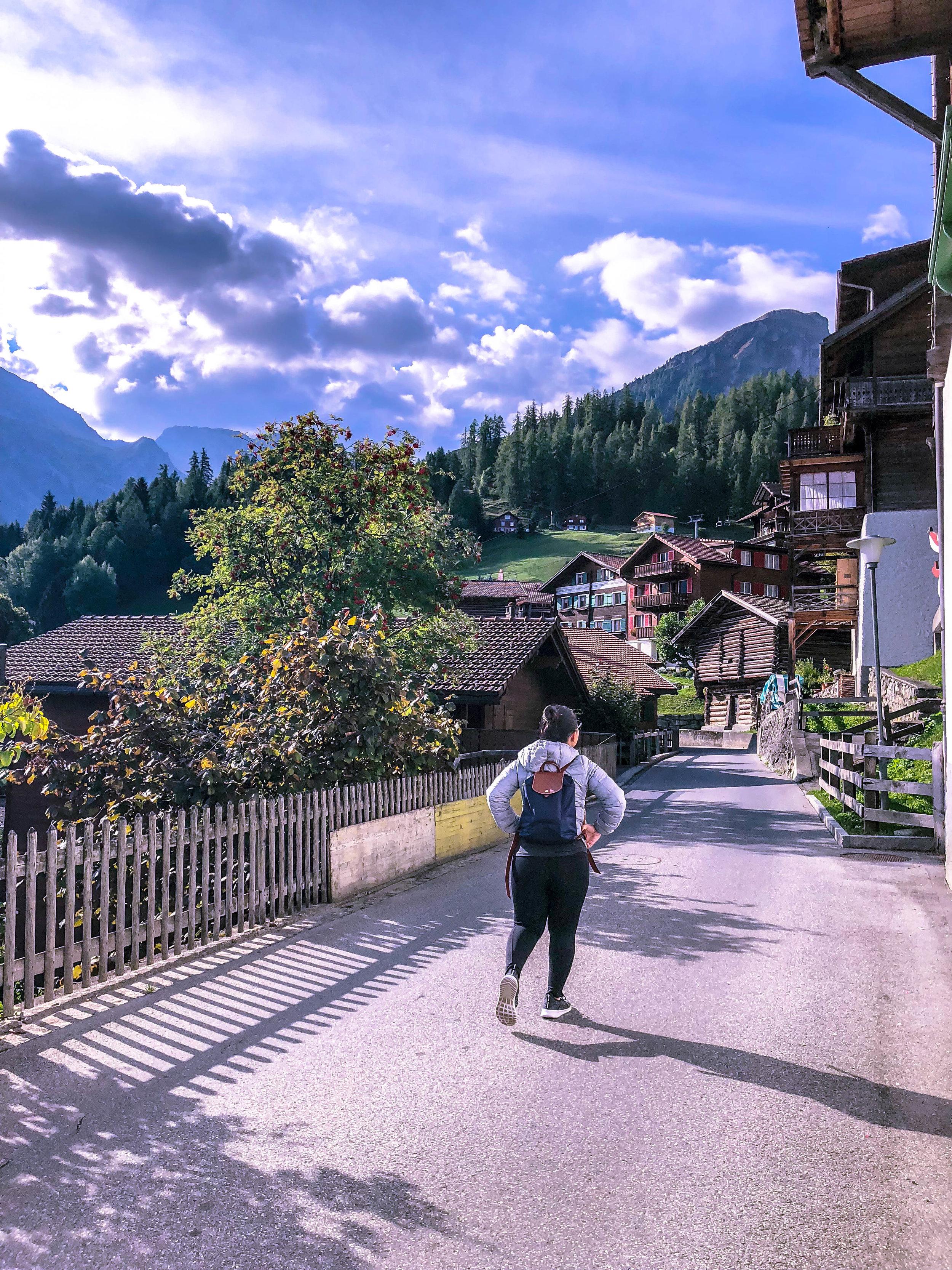 Birthday hike in Tschiertschen, Switzerland.