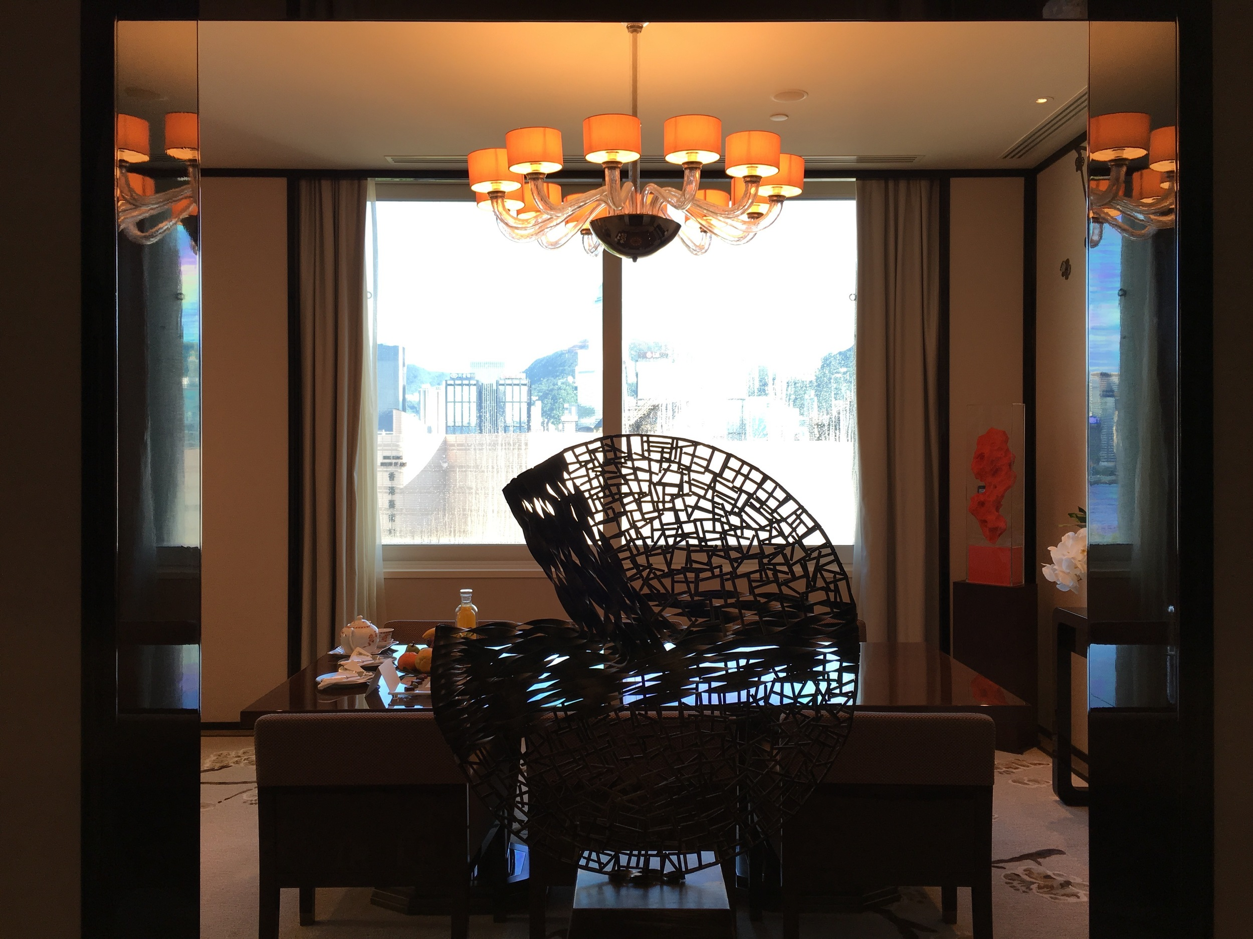 Suite entrance/foyer overlooking the Victoria Harbour and Skyline