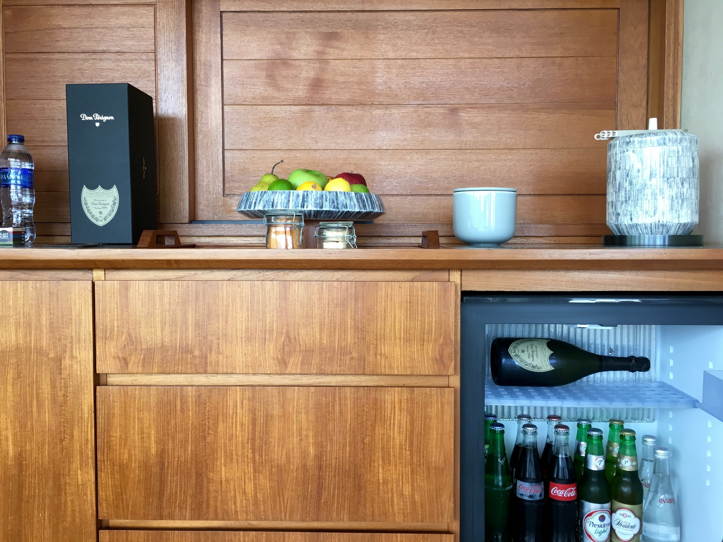 Complimentary mini-bar (Dom not included)