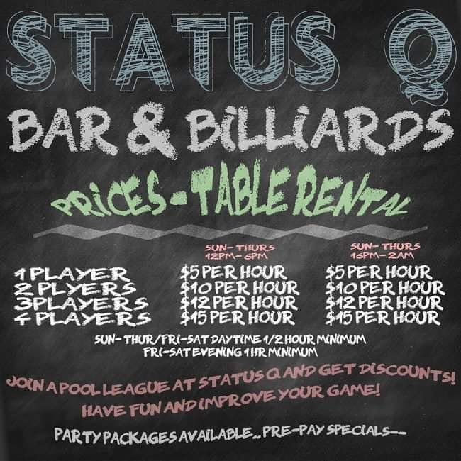 #statusq #statusqbilliards #sportsbar #bar #lounge #billiards #pool #brooklyn #newyork #ny #bk #8ball #9ball #10ball #apa #apaleague #poolleague #snooker #shanevanboening #efrenreyes #earlstrickland #beer #brooklyndive #brooklynbar #brooklyndive
