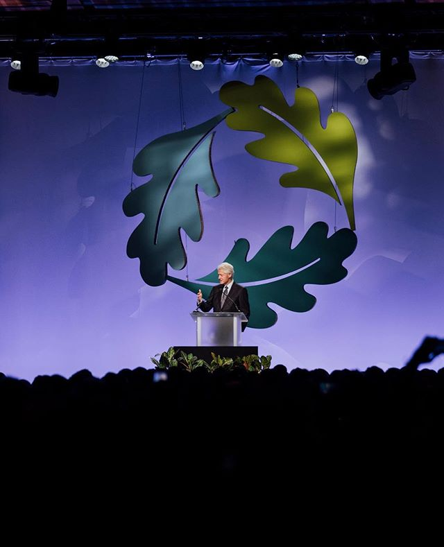 President Bill Clinton giving a key note speech at the GreenBuild Trade Show in Boston.  This is such an amazing trade show, focused on sustainable building practices.  The entire show itself was also sustainable - from the show signs to the flooring.  The @clintonfoundation was receiving an award for a sustainable orphanage they built in Haiti. ⠀ ⠀ ⠀ ⠀ ⠀ #bamcophoto #bamandcophotography #nyceventphotographer #nyceventphotography #nycevents #documentaryeventphotography #luxuryevents #vipevents #celebrityevents #celebrityeventphotography #greenbuild #greenbuildtradeshow #clintonfoundation #billclinton #keynotespeech