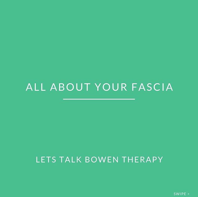 Bowen Therapy ✨  Fascia and Bowen Therapy. Swipe across to learn about how Bowen Therapy can benefit you. Want to learn more? Give us a call and we would be more than happy to answer any questions, alternatively jump online and make a booking with our Bowen therapist Peter