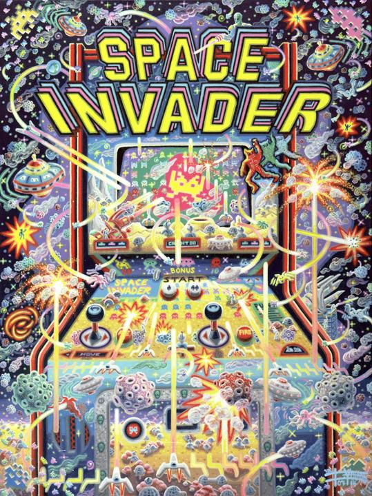 108 Space Invaders 40x30 July 2014 SOLD Josh Landy USA.jpg