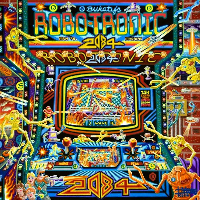 114 Robotronic 36x36 March 2014 Canvas SOLD Robert Bukaty KS USA.jpg