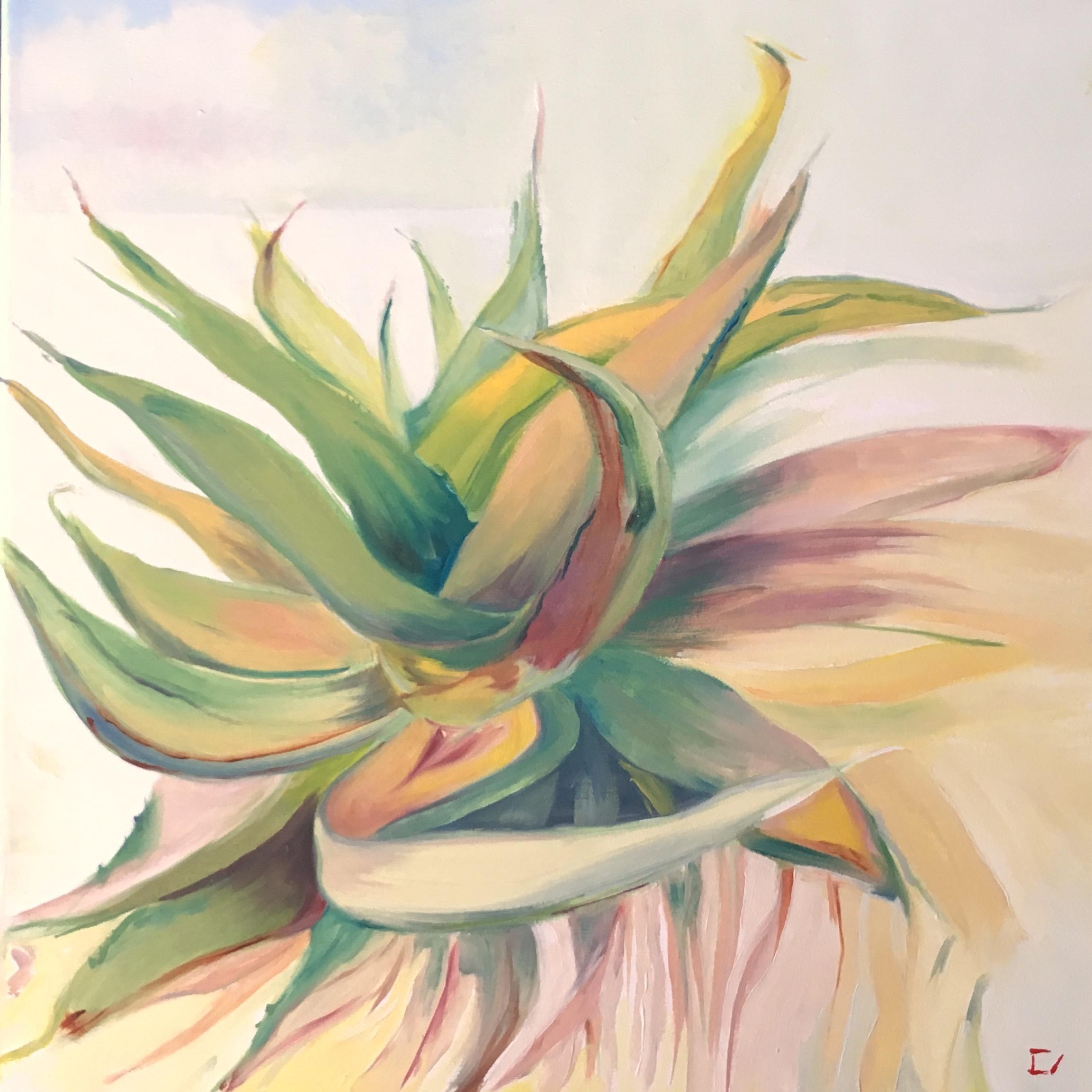 "Palmfly 2  12"" x 12""  Oil on Canvas"