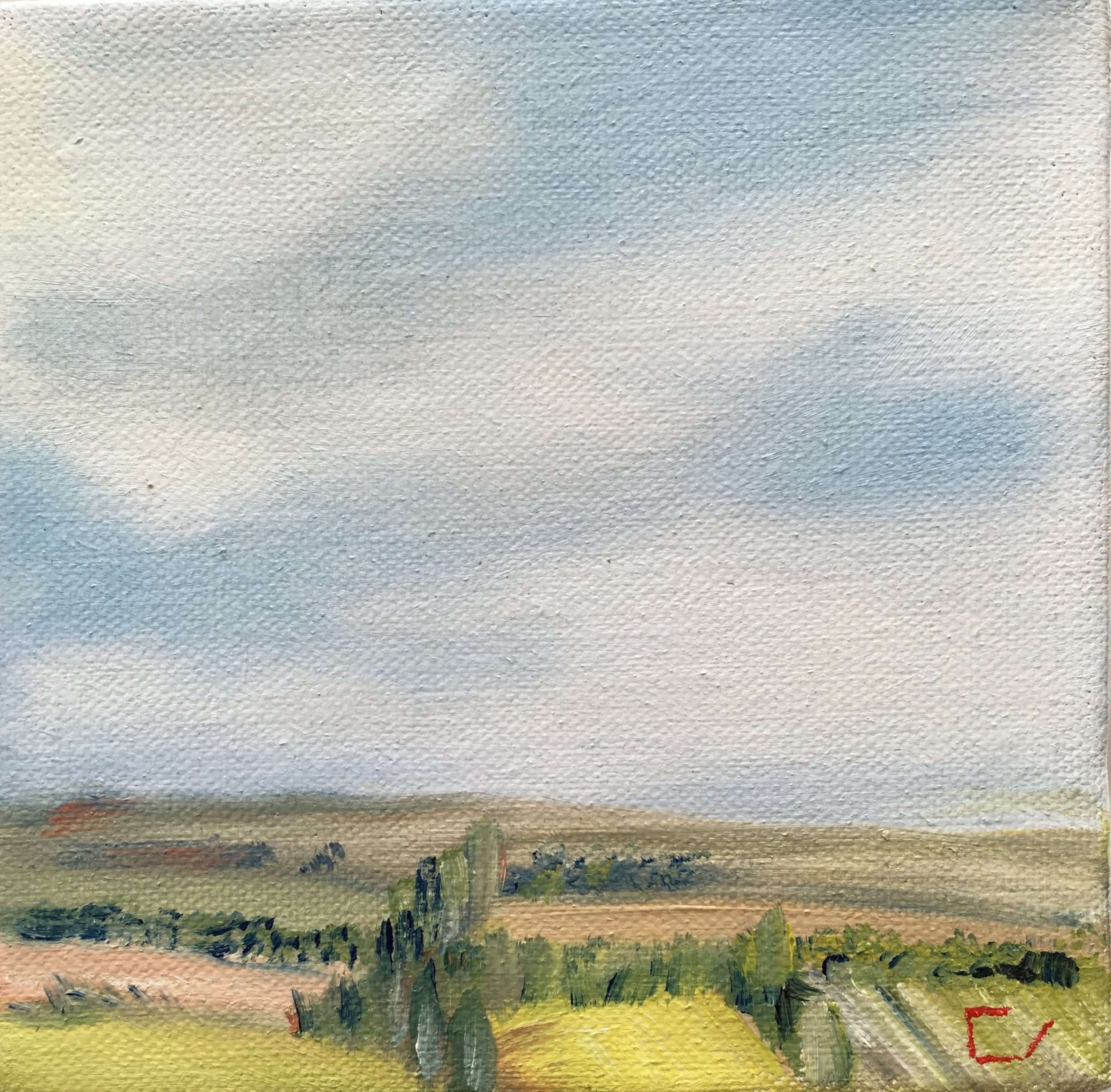 "Placid Way  5"" x 5""  Oil on Canvas"