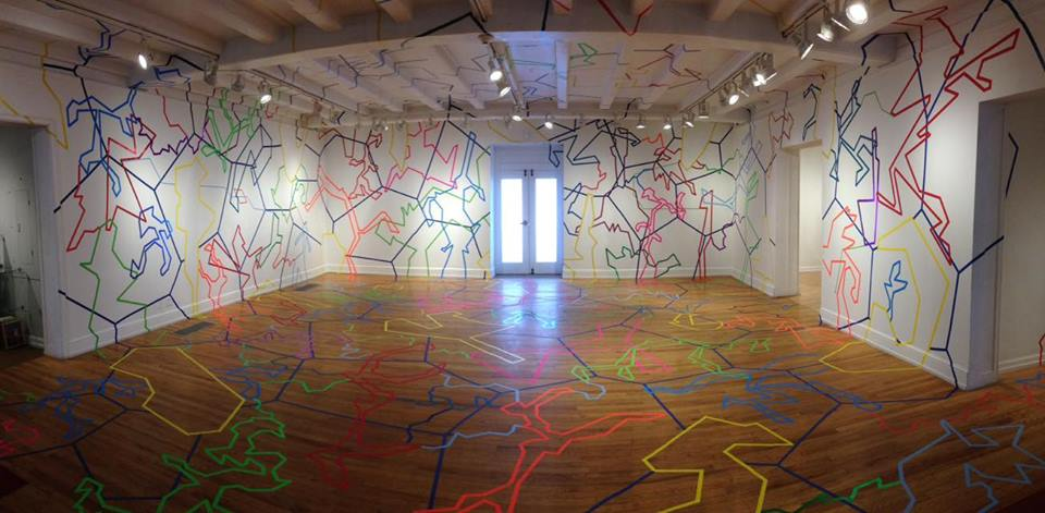Drawing Installation  Pittsburgh Center for the Arts  Winter 2016