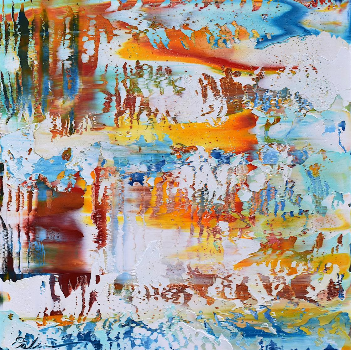 "Manipulations #2   acrylic on canvas  24"" x 24""  2017"