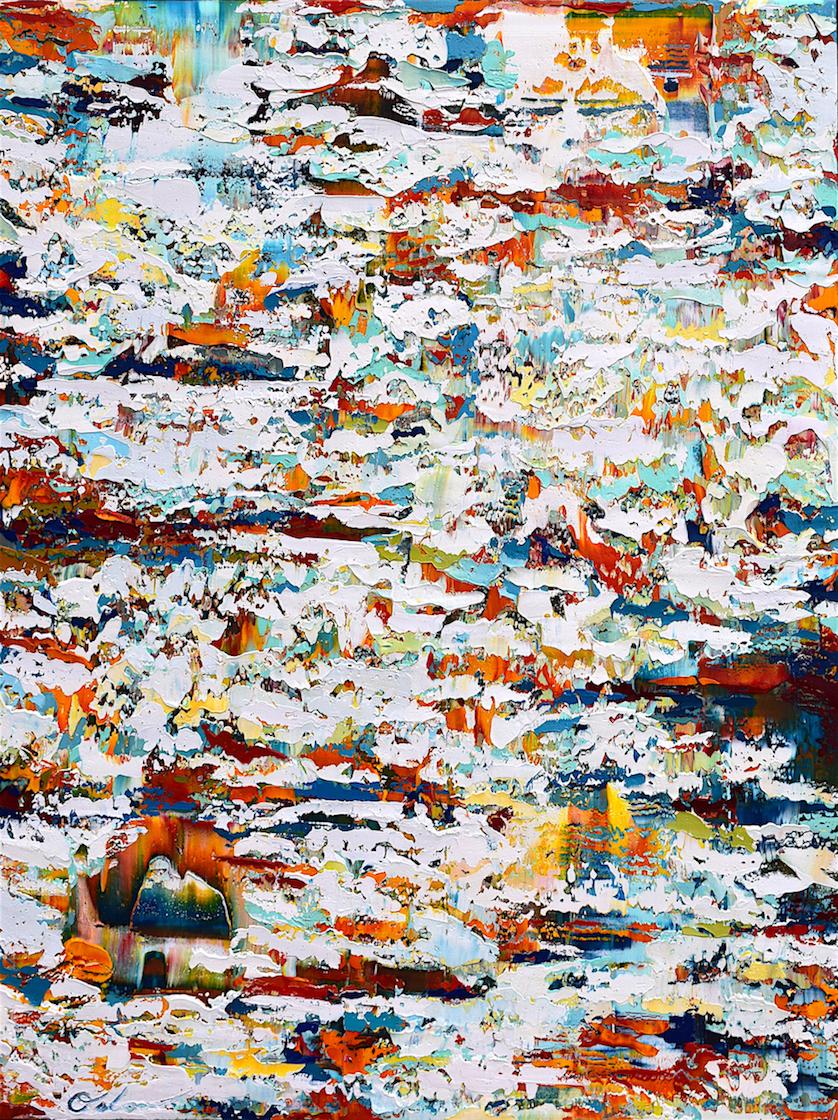 "Terrestrial #3   acrylic on canvas  36"" x 48""  2017"