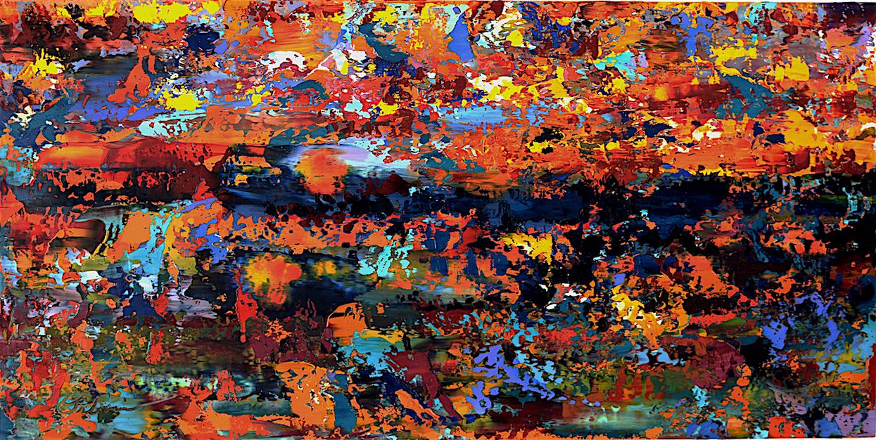 "Terrestrial #2   acrylic on canvas  30"" x 30""  2017"
