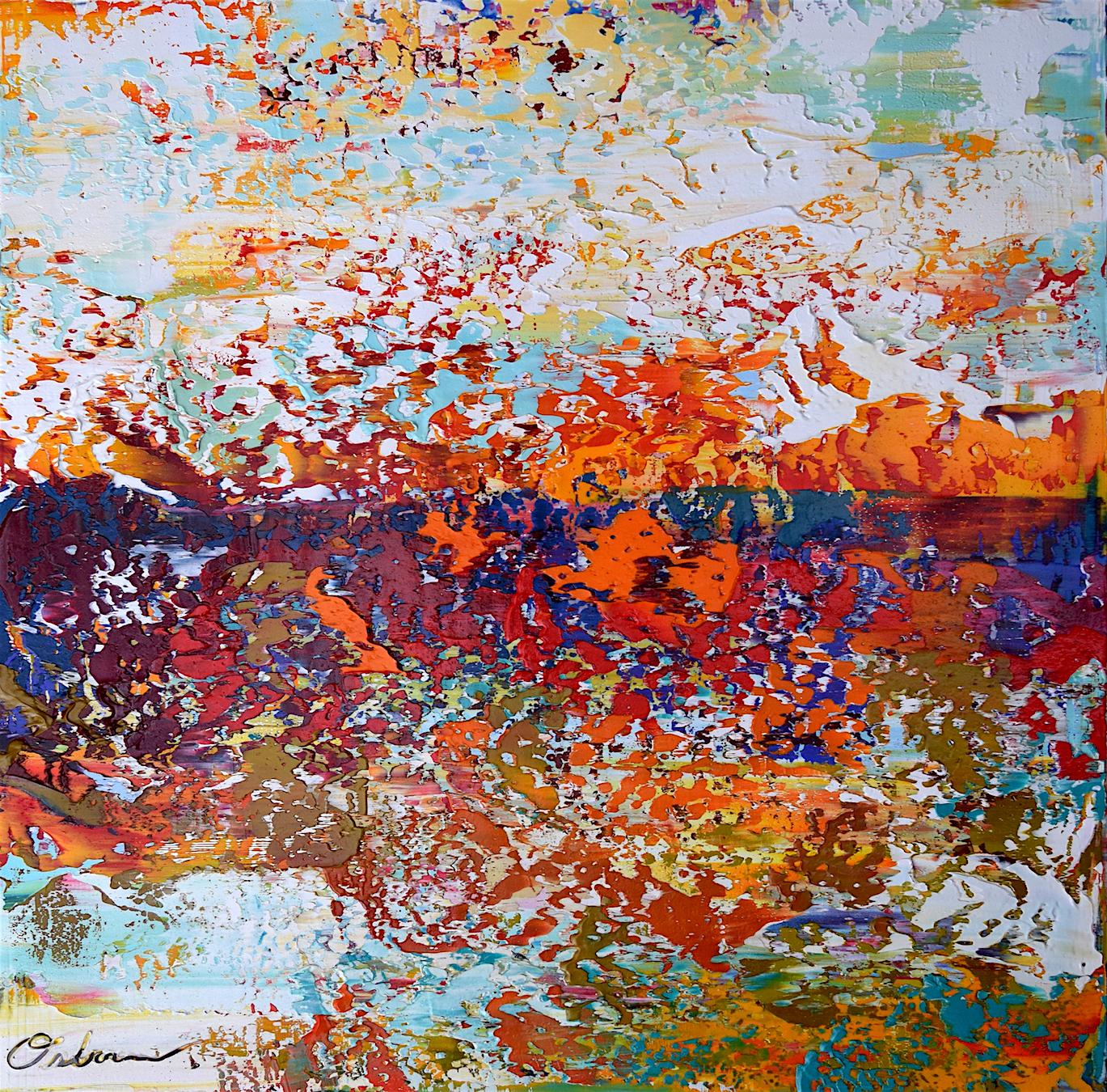 "Terrestrial #4   acrylic on canvas  30"" x 30""  2017"